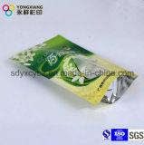 Malote plástico personalizado tamanho do alimento de pé do petisco com Zipper