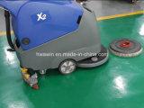 床のスクラバー機械の後ろの電池式の歩行