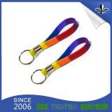 Wristbands del silicone degli anelli portachiavi stampati abitudine