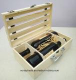 Rectángulo de madera del vino de la Dos-Botella de la alta calidad con precio de fábrica