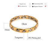 Le bracelet magnétique de tungstène de promotion pour la thérapie magnétique avec Ipg a plaqué