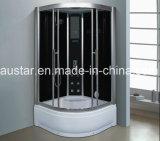 1000mm Sector sauna de vapor con bañera y ducha (AT-G0904)