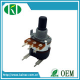 5 Pinの17mmの音量調節の精密回転式電位差計Wh168-2