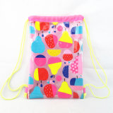 All Over le sac de cordon de bain de PVC d'impression de fruit