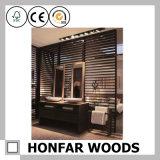 現代黒い寝室木ディバイダ