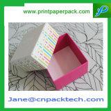 Rectángulo de empaquetado impreso aduana del regalo del papel de la cartulina