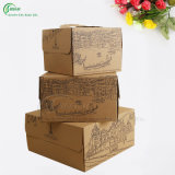Große Geschenk-Kästenbrown-Papier-Geschenk-Tortenschachteln für das Verpacken (KG-PX054)