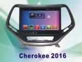 차 DVD와 차 영상을%s 가진 Jeep Cherokee 2016년을%s 인조 인간 시스템 차 항법