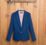 Повелительница Мини Офис Костюм Пальто куртки цвета конфеты женщин