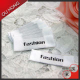 Etiqueta principal Foldable etiqueta tecida personalizada para a roupa