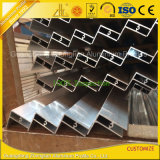 Рамка панели солнечных батарей штрангя-прессовани алюминия 6061 для алюминиевого солнечного рельса