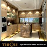 オーストラリア様式の平野の島Tivo-0031Vが付いている白い食器棚