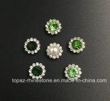 Горячий продавая Rhinestone кристалла 7mm в шить на перле с Rhinestone установки когтя (кристалл перлы TP-7mm круглый)