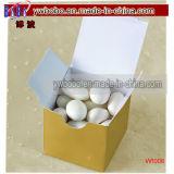 Favor de la boda caja de regalo del oro Cajas 100CT cumpleaños Party Productos (W1008)
