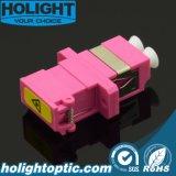 Color de rosa a dos caras Om4 del LC del adaptador del obturador con el borde