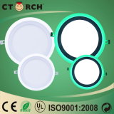 Ctorch White+Green ultra fino 6W+3W LED encendido-apagado Color-Cambia la luz del panel