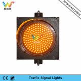 Sinal do diodo emissor de luz do amarelo do sinal de tráfego da segurança de estrada 300mm