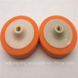 Roue de couleur chamois d'éponge de roue de biens polissant le disque abrasif avec du plastique