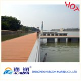 Pavimento esterno di Decking di WPC per il Decking di galleggiamento