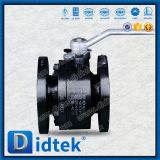 Didtek DIN Pn40 A105 a modifié le robinet à tournant sphérique de flottement de 2 PCS