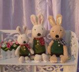 Vente en gros de jouets en lapin avec écharpe