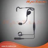 Derrière le casque tête avec Ptt en ligne et Ptt à distance, microphone à déconnexion rapide (RHS-0636)