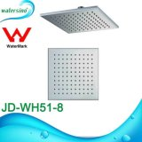 Cabeça de chuveiro quadrada do projeto do aço inoxidável 304 Ultrathin para o banho