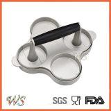 WsBp004 4穴のハンバーガーの出版物の食品等級アルミニウム肉出版物の台所ツール