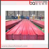 Hoja acanalada del material para techos de la prueba de calor de la anticorrosión 2m m