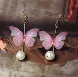 De Vrouwen van de Manier van de Tegenhanger van de Parel van de vlinder Dame Earrings