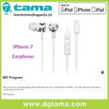 Новый стерео наушник шлемофона молнии 8pin связанный проволокой iPhone7