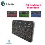 Clavier Q9 éclairé à contre-jour par Bluetooth avec le touchpad
