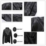Куртка холодного пальто Mens кожаный с подкладкой ватки