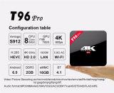 2016 bester Eibisch Fernsehapparat-Kasten Amlogic S912 Kodi Android Fernsehapparat-KastenT96 PRO2g 16g des Android-6.0 völlig einprogrammiert Strom Media Player