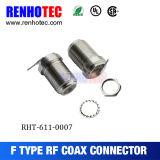 Conector coaxil eléctrico del Pin del conector recto femenino de F