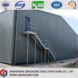 Здание портальной рамки стальное для мастерской с мезонином