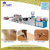 Máquina de madera plástica de la protuberancia del Decking del azulejo de la hoja del suelo del tablón del vinilo del PVC