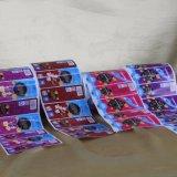 Etiqueta autoadhesiva adhesiva de encargo del vinilo de la impresión de la alta calidad