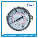 ステンレス鋼圧力は圧力を正確に測るエントリ圧力計を正確に測るFillable