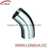 Un gomito sanitario da 45 gradi dell'acciaio inossidabile