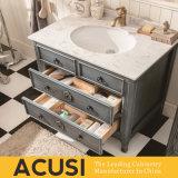 Meubles américains de vente chauds de salle de bains de Module de salle de bains de vanité de salle de bains en bois solide de type (ACS1-W46)