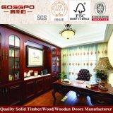 Bookcase твердой древесины офисной мебели самомоднейший с таблицей изучения (GSP9-029)