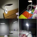 Justierbare nachladbare LED Tisch-Lampe der Form-mit Klipp