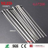 316 304 201 relations étroites de fermeture éclair en métal de serres-câble en métal