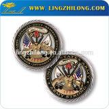 工場カスタム折りえりの硬貨のバッジ
