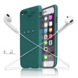 Caja elegante colorida del teléfono móvil de la protección con el auricular Gato de 3.5m m e interfaz de la carga del relámpago para el iPhone 7 del iPhone 7 más