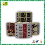 Etiqueta impressa Custome com papel e material plástico