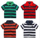 줄무늬 아이들의 의복 폴로 t-셔츠 여름 평상복 4 색깔