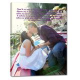 Печать холстины фотоего, персонализированное изготовленный на заказ фотоий на подарке годовщины искусствоа стены декора стены холстины, Wedding печати холстины захвата