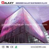 Écran visuel en verre transparent polychrome de panneau d'affichage de mur du guichet DEL